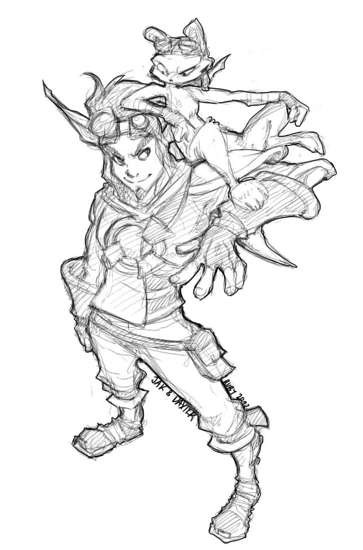 How To Draw Daxter Jak And Daxter Coloring Pages