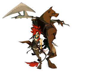 Bird and Wolf by RubyFeather