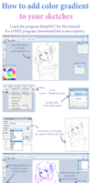 How to add color gradient to your sketches