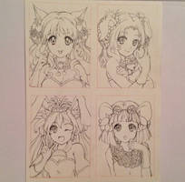 Fruity animal girls lines