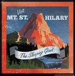 Travel sticker: Mt. St. Hilary