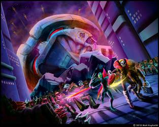 Escape from Cybertropolis by MattDrawsRobots