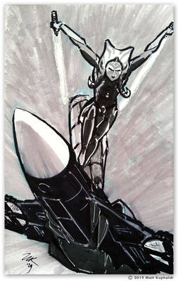 Sketch: Ahsoka and Windblade