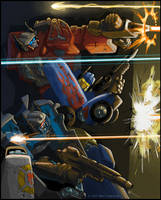 Nightbeat, Siren, and Hosehead by MattDrawsRobots