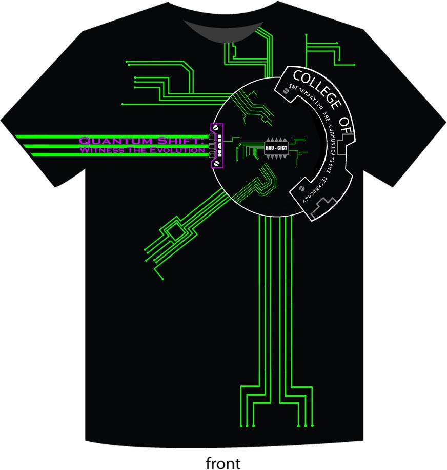 Tshirt design - Cict T Shirt Design Front By Seventeenth Tragedy