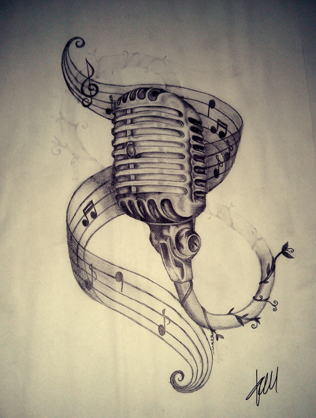 Microphone drawing tattoo the image kid for Schoolhouse music