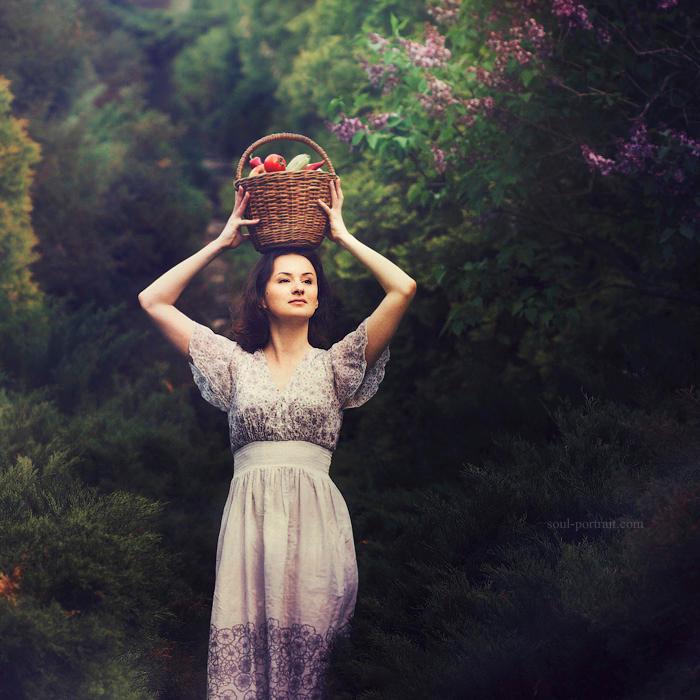 woman in the garden by NataliaCiobanu