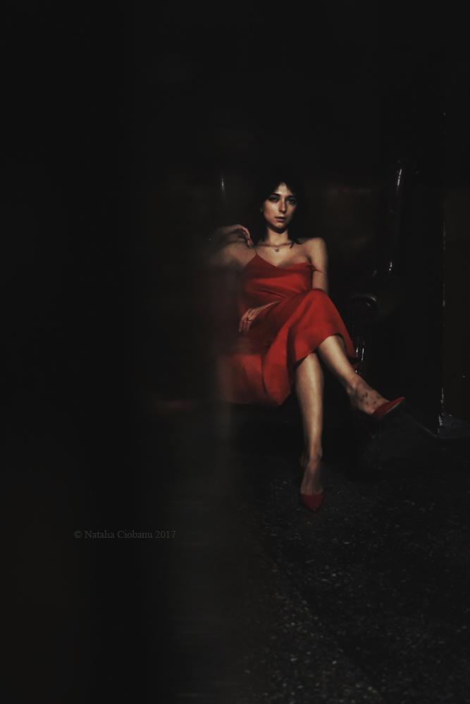 Woman in red 1 by NataliaCiobanu