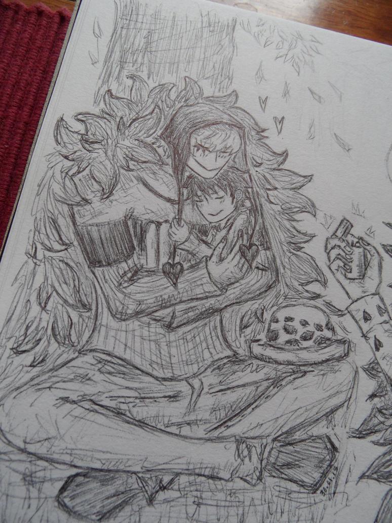 cuddle by Animesketch12