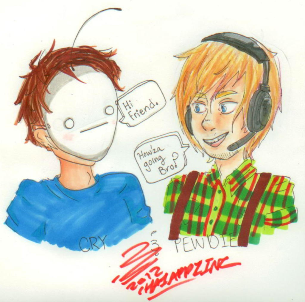 Cry and Pewdiepie by Timid-Appleton on DeviantArt