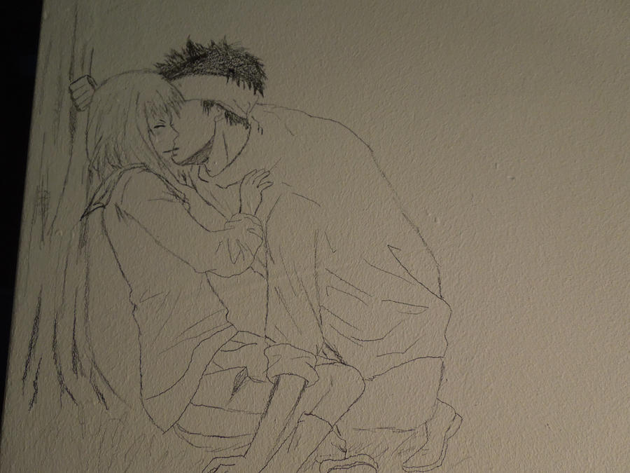 Love Wallpaper Drawing : wall drawing love attack by animegirlfever on DeviantArt