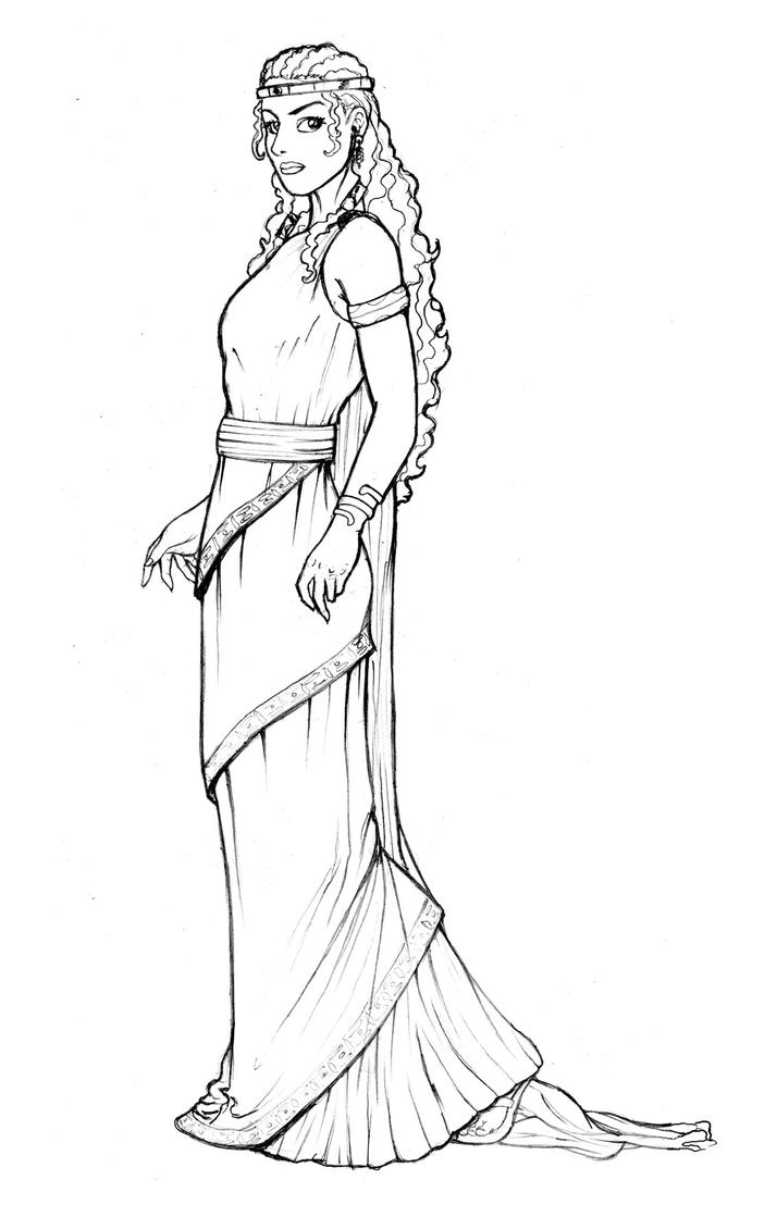 esther bible coloring pages - queen esther by nahualconmachete on deviantart