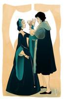 George and Jane Boleyn by savivi