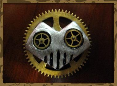 Clockwork Heartshaped Skull by Eluude