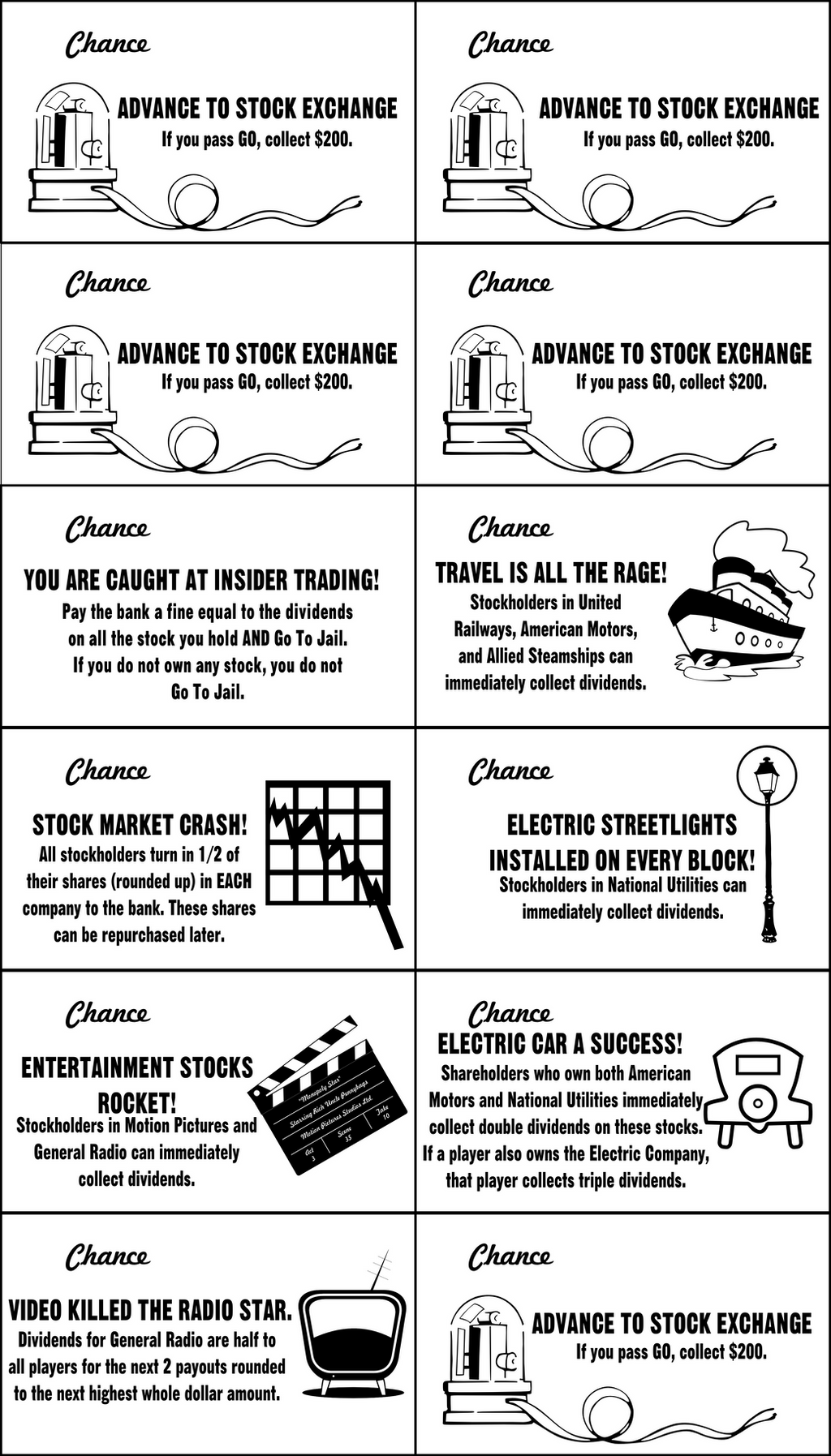 Ultimate Monopoly Action Cards Set by chadws on DeviantArt