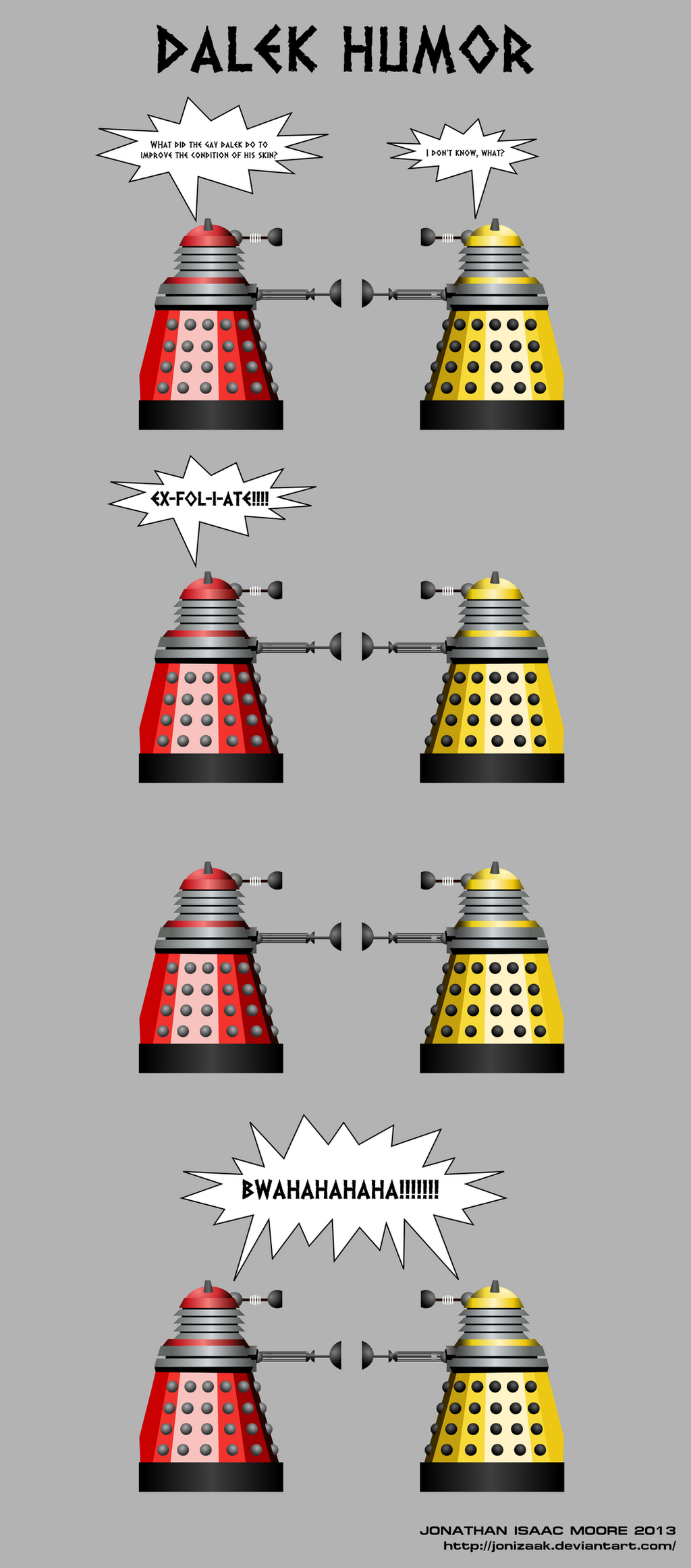dalek humor by jonizaak on deviantart