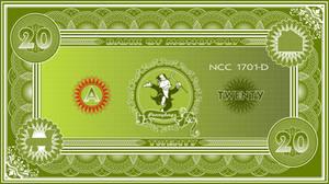 Monopoly Banknote $20 by jonizaak