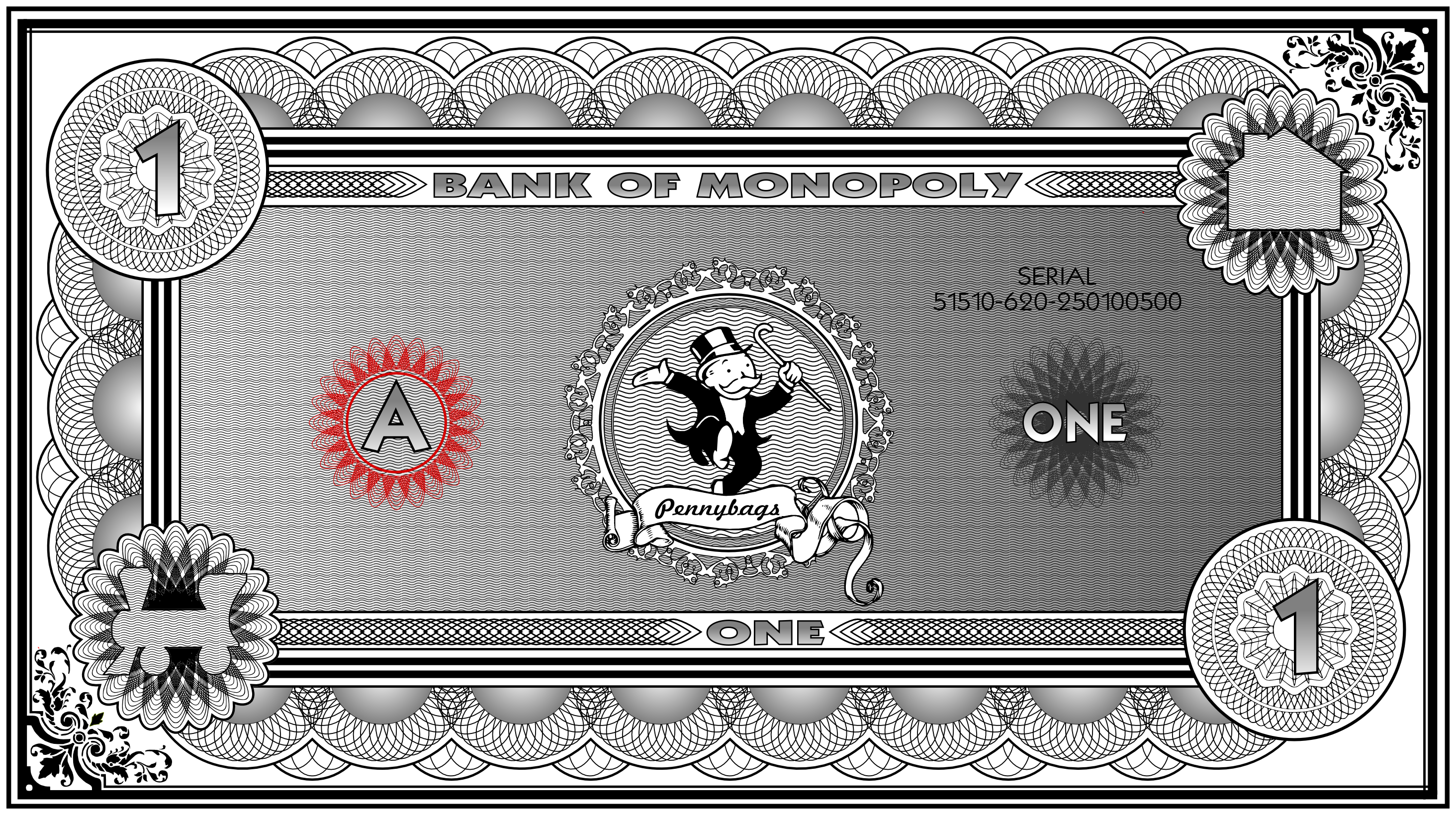 Monopoly Banknote $1