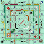 Ultimate Monopoly Board (fold lines)