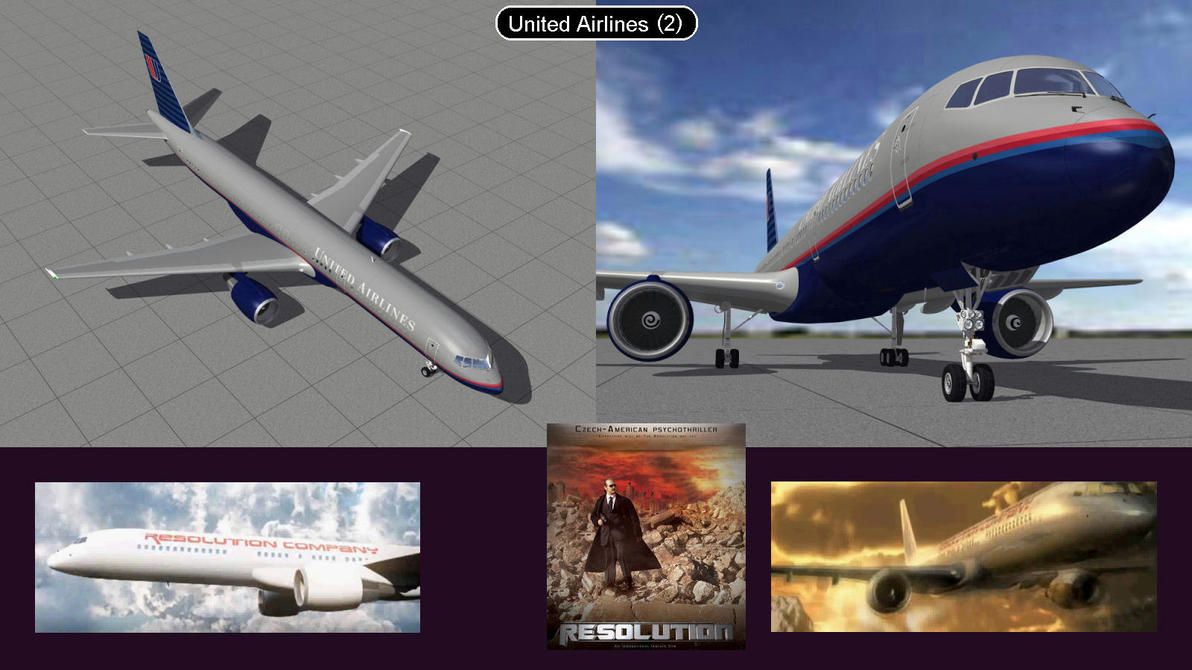 Boeing 757 United Airlines 2  by iconkid