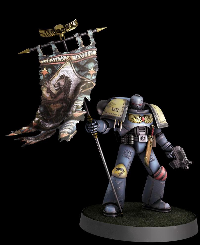 Warhammer 40k Space Wolf by TerronViking