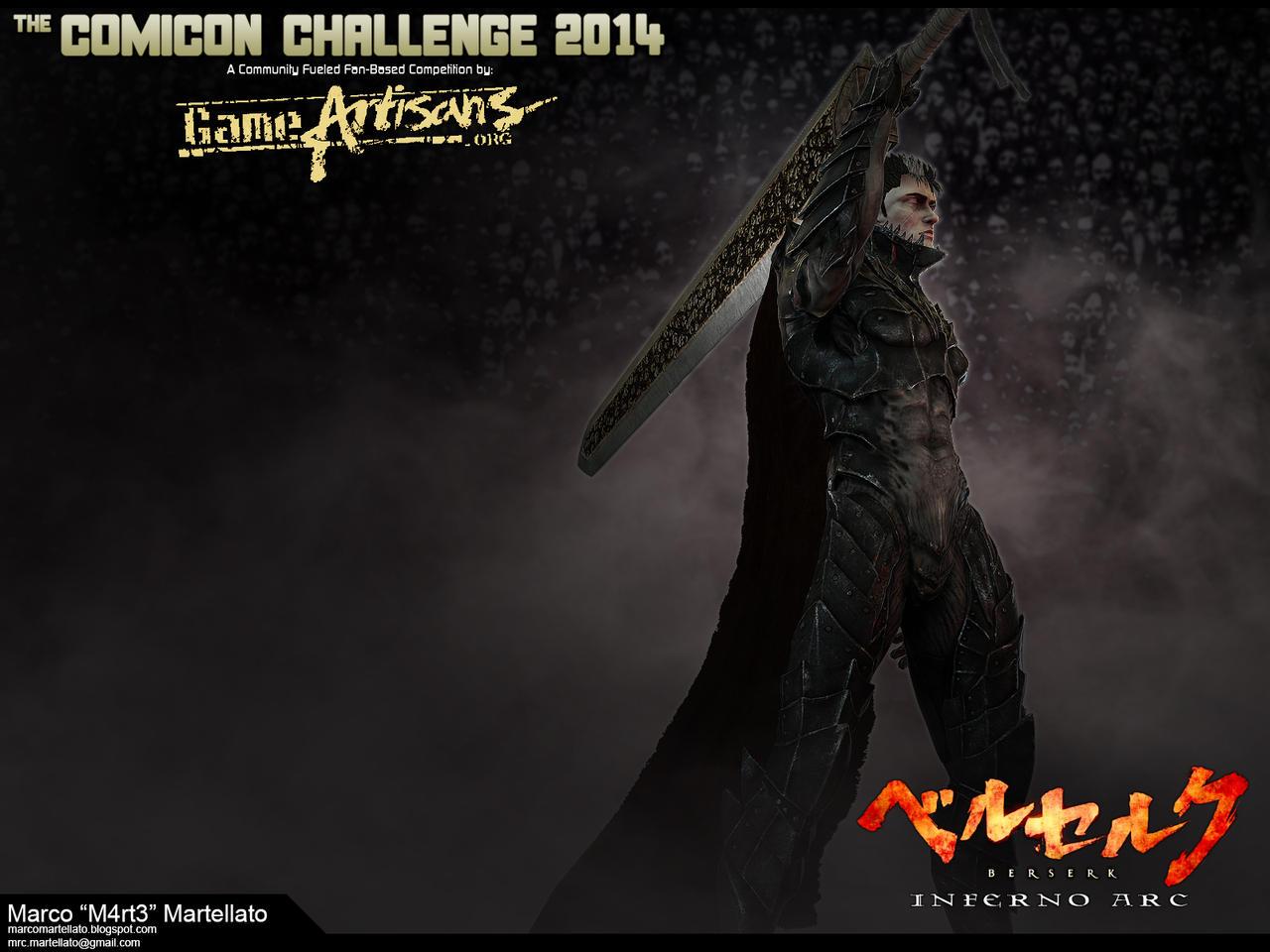 Comicon Challenge 2014 - Berserk - Guts HellKnight by TerronViking