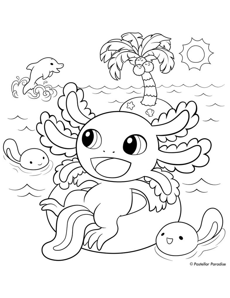 axolotl coloring pages - photo#11