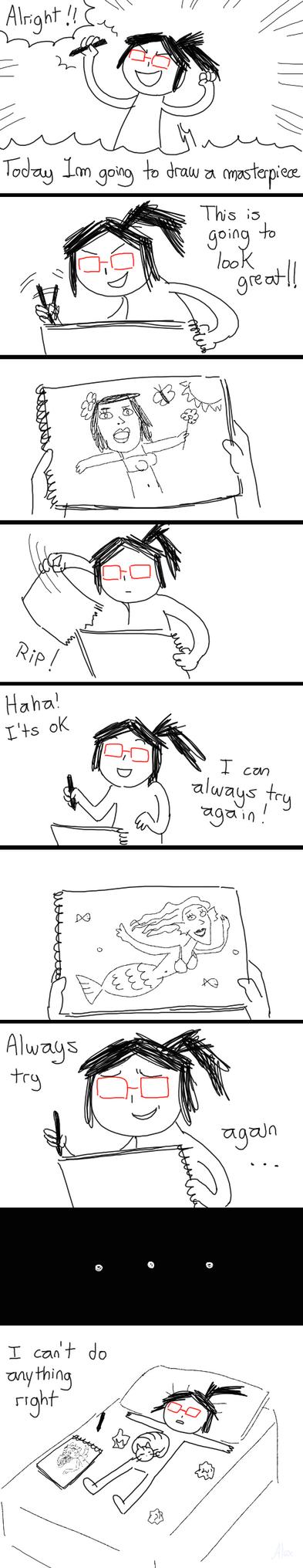 It isn't easy being an artist by churrokat