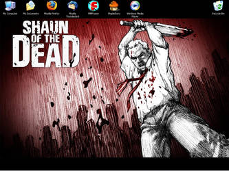 Shaun of the dead desktop by Benito