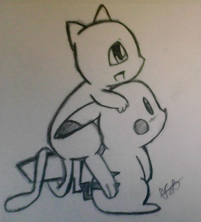 Mew and Pikachu by Cel...