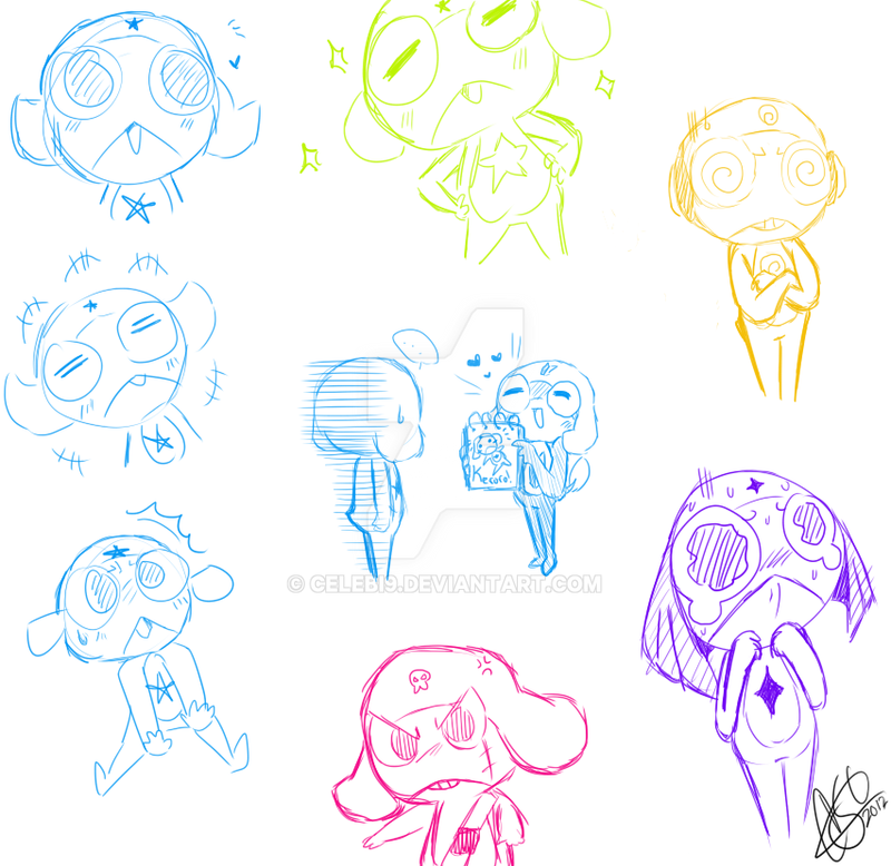 Sgt. Frog Drawings 2 by Celebi9