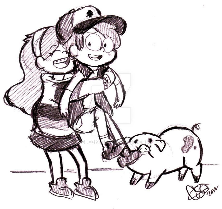 Big Hugs for Dipper by Celebi9