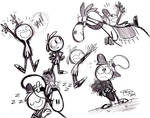 Wander and Sylvia sketches
