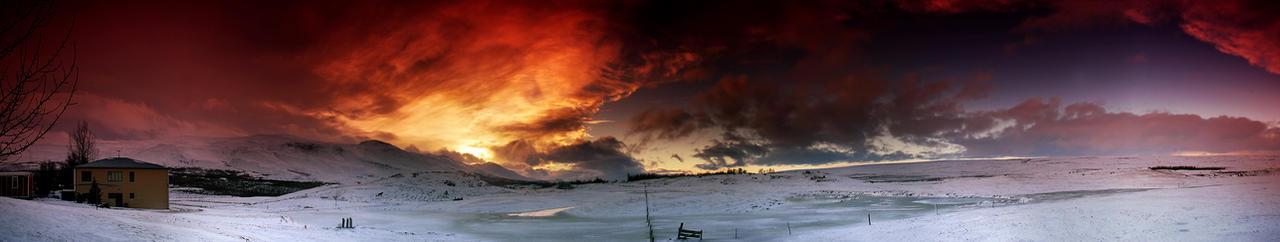 Iceland - the Sun explosion by PatiMakowska