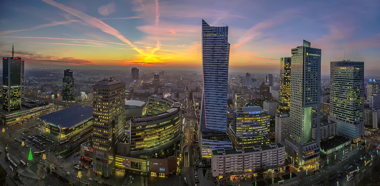 Warsaw by evening Metropolis - Urban Explorations by PatiMakowska