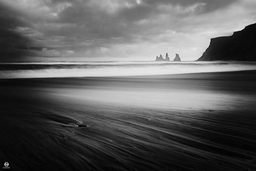 Black Sand Beach in Vik - Iceland