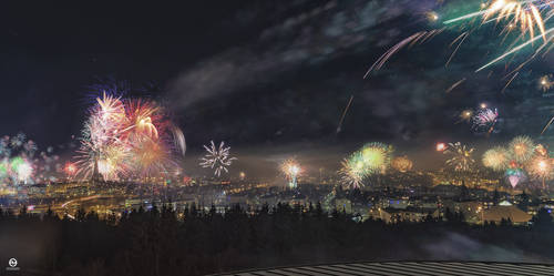 Reykjavik in New Year Eve 01.01.2019 by PatiMakowska
