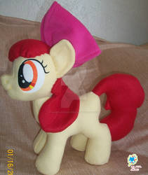 Applebloom Plushie Commission by SiamchuchusPlushies