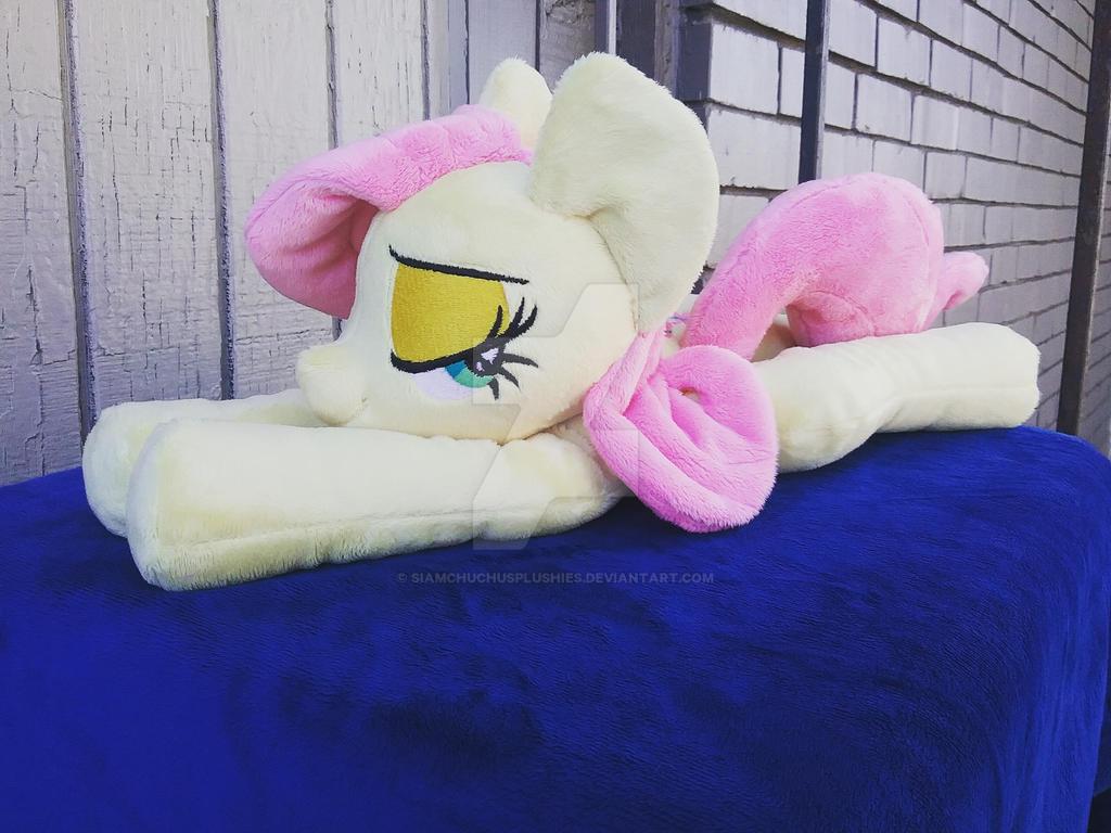 Fluttershy beanie plush with sleepy eyes plushie by SiamchuchusPlushies