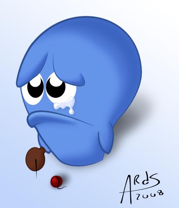 Sad Bloo by TheMonkeyTail on DeviantArt