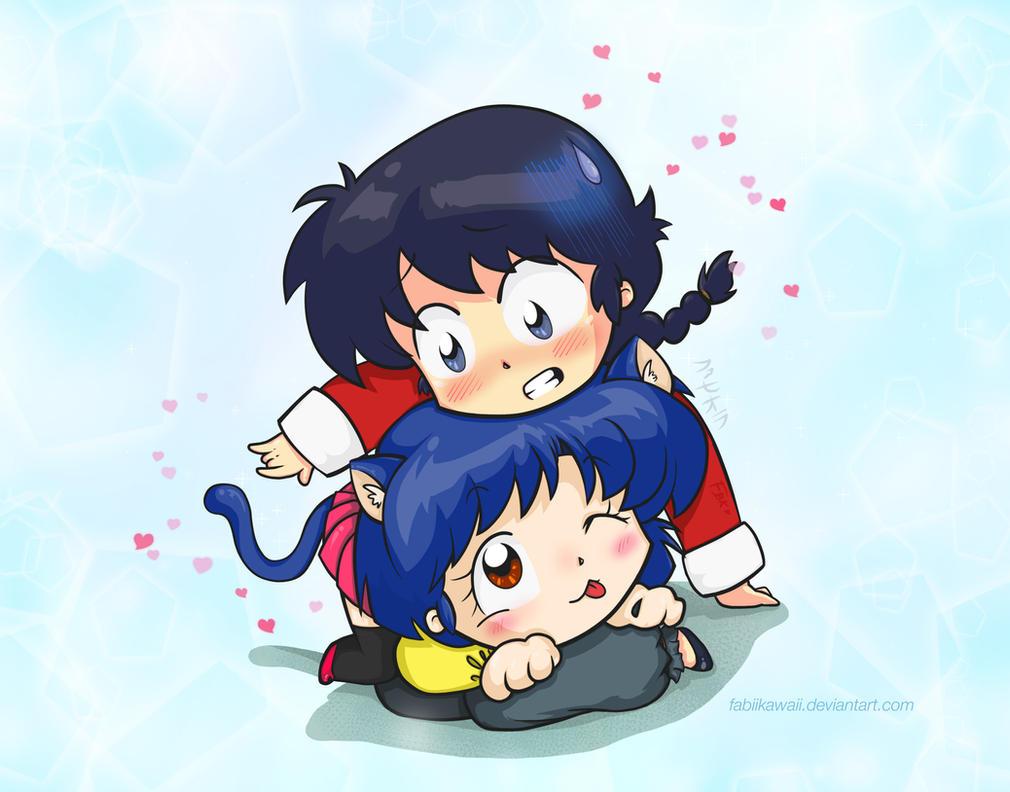 Ranma and AkaNe-ko by FabiiKawaii