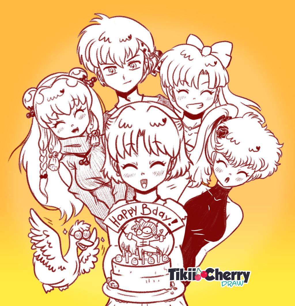 Ranma Happy Birthday To You Animation Link By Tikiicherry On Deviantart