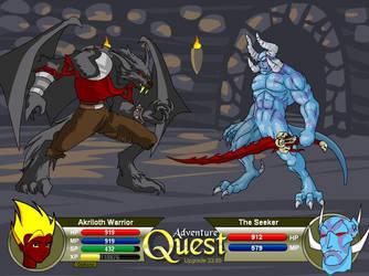 Demon Vs Werepyre by DragonLord-Inferno