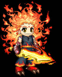 Gaia Online Fire Warrior by DragonLord-Inferno
