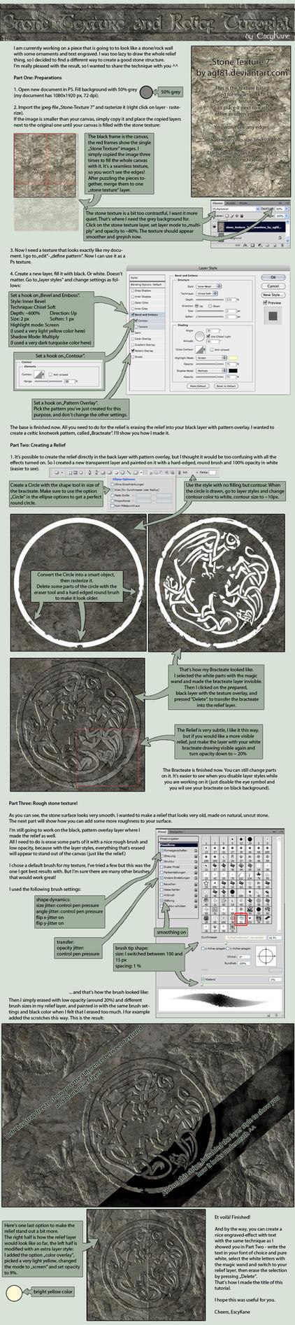 Stone Texture Relief Tutorial by EscyKane