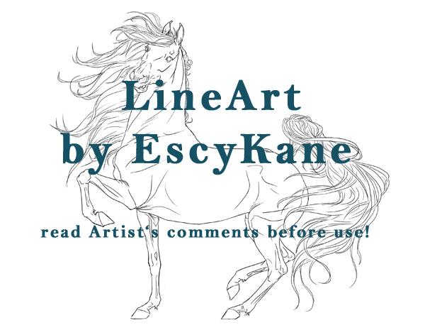 Saddlebred/Iberian Lineart by EscyKane