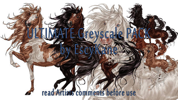Ultimate Greyscale Pack Saddlebred
