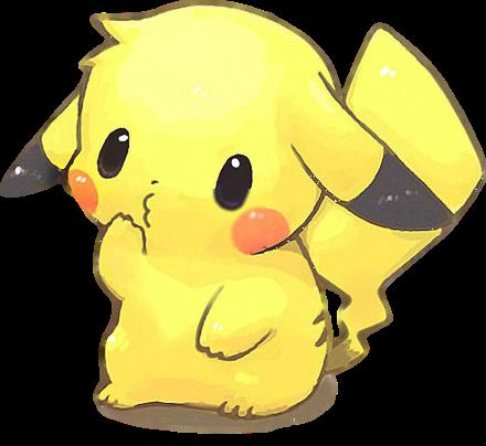 Cute Pikachu Render|01 by ChibaiIhoraChiRender on DeviantArt