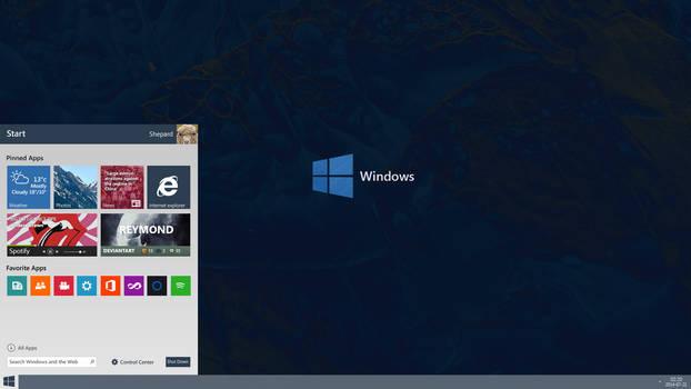Windows 9 Redesign / Concept Menu
