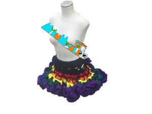 Rainbow Crochet Tutu Skirt
